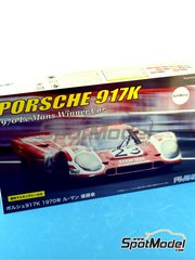Fujimi: Model car kit 1/24 scale - Porsche 917K Shell #23 - Hans Herrmann (DE) + Richard Attwood (GB) - 24 Hours Le Mans 1970 - plastic model kit image