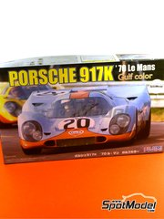 Fujimi: Model car kit 1/24 scale - Porsche 917K Gulf #20 - Joseph 'Jo' Siffert (CH) + Brian Redman (GB) - 24 Hours Le Mans 1970 - plastic parts, rubber parts, water slide decals and assembly instructions image