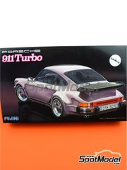 Fujimi: Model car kit 1/24 scale - Porsche 911 930 Turbo - plastic parts, rubber parts, water slide decals and assembly instructions