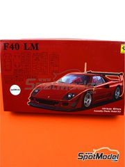 Fujimi: Model car kit 1/24 scale - Ferrari F40 LeMans - paint masks, photo-etched parts, plastic parts, rubber parts, water slide decals, assembly instructions and painting instructions