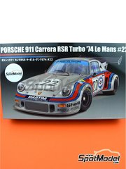 Fujimi: Model car kit 1/24 scale - Porsche 911 Carrera RSR Turbo Martini Rossi Porsche Audi #22 1974 - plastic parts, rubber parts, water slide decals, assembly instructions and painting instructions