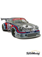 Fujimi: Model car kit 1/24 scale - Porsche 911 Carrera RSR Turbo Martini Rossi Porsche Audi #9 - Gijs van Lennep (NL) + Herbert Müller (CH) - Watkins Glen 6 Hours 1974 - plastic parts, rubber parts, water slide decals, assembly instructions and painting instructions