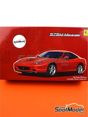 Fujimi: Model car kit 1/24 scale - Ferrari 575M/ 550 Maranello - plastic parts, rubber parts, water slide decals, assembly instructions and painting instructions