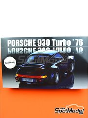 Fujimi: Model car kit 1/24 scale - Porsche 930 Turbo 1976 - plastic parts, rubber parts, water slide decals, assembly instructions and painting instructions
