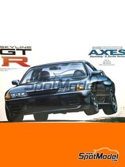 Fujimi: Model car kit 1/12 scale - Nissan Skyline GT-R R32 - plastic parts, rubber parts, water slide decals and assembly instructions