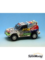 Gaffe: Model car kit 1/43 scale - Mitsubishi Pajero Evo T2 - Prieto - Dakar Rally 2000 - resin multimaterial kit