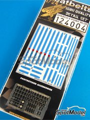 HGW: Seatbelts 1/24 scale - Sparco 6 point seatbelt - Blue color - photo-etched parts and seatbelt fabric