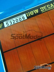 HGW: Decals 1/32 scale - Dark wood on transparent base - A4 side