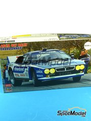 Hasegawa: Model car kit 1/24 scale - Lancia 037 Rally Chardonnet #11 - Jean-Claude Andruet (FR) + Sergio Cresto (US) - Tour de Corse 1984 - plastic model kit