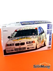 Hasegawa: Model car kit 1/24 scale - BMW 318i Team Schnitzer #10, 73 - Steve Soper (GB), Prinz Leopold von Bayern (DE) - Japan Touring Car Championship - JTCC 1994 - plastic model kit