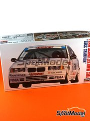 Hasegawa: Model car kit 1/24 scale - BMW 318i Team Schnitzer #1 - Joachim Winkelhock (DE) - British Touring Car Championship - BTCC 1994 - plastic parts, water slide decals and assembly instructions image