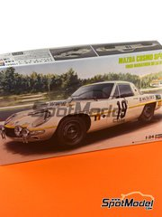 Hasegawa: Model car kit 1/24 scale - Mazda Cosmo Sport #18, 19 - Marathon de la Route 1968 - plastic parts, water slide decals, other materials and assembly instructions image