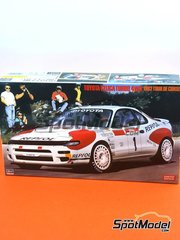Hasegawa: Model car kit 1/24 scale - Toyota Celica Turbo 4WD Repsol #1 - Carlos Sainz (ES) + Luis Moya (ES) - Tour de Corse 1992 - photo-etched parts, plastic parts, rubber parts, water slide decals and assembly instructions image