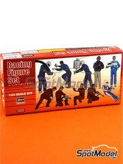 Hasegawa: Figures set 1/24 scale - Racing figure set - plastic parts, other materials and assembly instructions - 10 units