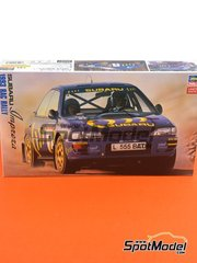 Hasegawa: Model car kit 1/24 scale - Subaru Impreza WRX - RAC Rally 1993 - plastic parts, rubber parts, water slide decals and assembly instructions