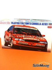Hasegawa: Model car kit 1/24 scale - Toyota Corolla AE101 Fujitsu Ten Tom's #36, 37 - Masanori Sekiya (JP) + Pierre-Henri Raphanel (FR), Kazuyoshi Hoshino (JP) + V. Rosso (AR) - plastic parts, rubber parts, water slide decals and assembly instructions image