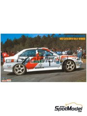 Hasegawa: Model car kit 1/24 scale - Mitsubishi Lancer Evolution IV Ralli Art #1 - Tommi Mäkinen (FI) + Seppo Harjanne (FI) - Catalunya Costa Dorada RACC Rally 1997 - plastic parts, rubber parts, water slide decals, assembly instructions and painting instructions image