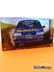 Hasegawa: Model car kit 1/24 scale - Subaru Legacy RS Subaru Rally Team - New Zealand rally, Tour de Corse 1993 - plastic parts, rubber parts, water slide decals and assembly instructions