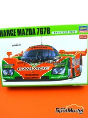 Hasegawa: Model car kit 1/24 scale - Mazda 767B Charge #202 - 24 Hours Le Mans 1989 - plastic parts, rubber parts, water slide decals, assembly instructions and painting instructions