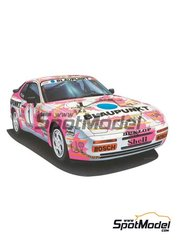 Hasegawa: Model car kit 1/24 scale - Porsche 944 Turbo Blaupunkt #1 - plastic parts, rubber parts, water slide decals and assembly instructions