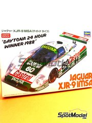 Hasegawa: Model car kit 1/24 scale - Jaguar XJR-9 Castrol #60 - 24 Hours Daytona 1988 - plastic parts, rubber parts, water slide decals and assembly instructions