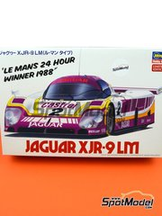 Hasegawa: Model car kit 1/24 scale - Jaguar XJR-9 Castrol #2 - 24 Hours Le Mans 1988 - plastic parts, rubber parts, water slide decals and assembly instructions