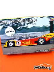 Hasegawa: Model car kit 1/24 scale - Porsche 962C Shell #1, 17 - Hans-Joachim Stuck (DE) + Derek Bell (GB) - FIA World Sports-Prototype Championship - WSPC, ADAC Norisring Supercup 1988 - plastic parts, rubber parts, water slide decals, assembly instructions and painting instructions image