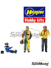 Hasegawa: Figures set 1/24 scale - Formula 1 drivers and manager - plastic parts and assembly instructions - 6 units image
