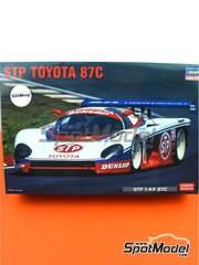 Hasegawa: Model car kit 1/24 scale - Toyota 87C Group C STP #3 - plastic parts, rubber parts, water slide decals, assembly instructions and painting instructions image