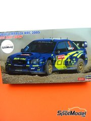 Hasegawa: Model car kit 1/24 scale - Subaru Impreza WRC #5, 6 - Petter Solberg (NO) + Chris Atkinson (AU) - Japan rally 2005 - plastic parts, rubber parts, water slide decals, assembly instructions and painting instructions image