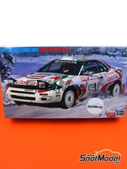Hasegawa: Model car kit 1/24 scale - Toyota Celica Turbo 4WD Toyota Castrol Team #1, 3 - Great Britain RAC Rally 1993 - plastic parts, rubber parts, water slide decals, other materials, assembly instructions and painting instructions