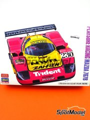 Hasegawa: Model car kit 1/24 scale - Mazda 767B NWB #230 - 24 Hours Le Mans 1992 - plastic parts, rubber parts, water slide decals and assembly instructions