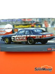 Hasegawa: Model car kit 1/24 scale - Jaguar XJ-S H.E. Group A Tom Walkinshaw Racing TWR Motul #3 - Tom Walkinshaw (GB) - European Touring Car Championship ETCC 1982 - plastic parts, rubber parts, water slide decals, assembly instructions and painting instructions