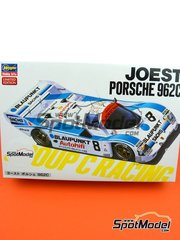 Hasegawa: Model car kit 1/24 scale - Porsche 962C Joest Racing Blaupunkt #8 - plastic parts, rubber parts, water slide decals, assembly instructions and painting instructions
