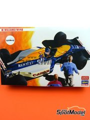 Hasegawa: Model car kit 1/24 scale - Williams Renault FW14B - FIA Formula 1 World Championship 1992 - plastic parts, rubber parts, water slide decals, assembly instructions and painting instructions