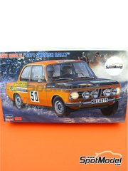 Hasegawa: Model car kit 1/24 scale - BMW 2002 ti #50 - Lars Nyström (SE) + Conny Nyström (SE) - Svezia Sweden Rally 1971 - plastic parts, rubber parts, water slide decals, other materials, assembly instructions and painting instructions