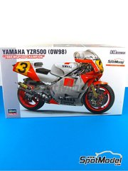 Hasegawa: Model bike kit 1/12 scale - Yamaha YZR500 OW98 Marlboro #3 - Eddie Lawson (US) - World Championship 1988