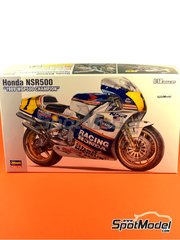 Hasegawa: Model bike kit 1/12 scale - Honda NSR500 Rothmans Honda Team #1, 2, 27 - Michael 'Mick' Doohan (AU), Wayne Gardner (AU), Eddie Lawson (US) - Motorcycle World Championship 1989 - plastic model kit