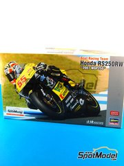 Hasegawa: Model bike kit 1/12 scale - Honda RS250RW Scot Racing Team #55 - Takumi Takahashi (JP) - World Championship 2007