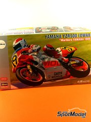 Hasegawa: Model bike kit 1/12 scale - Yamaha YZR500 0WA8 Marlboro #6, 19 - Freddie Spencer (US), Niall Mackenzie (GB) - World Championship 1989 - plastic model kit