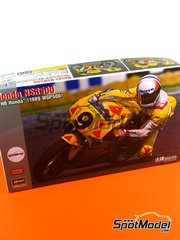 Hasegawa: Model bike kit 1/12 scale - Honda NSR500 HB #9 - Pierfrancesco Chili (IT) - Motorcycle World Championship 1989 - plastic model kit image