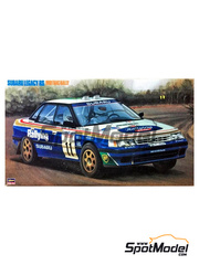Hasegawa: Model car kit 1/24 scale - Subaru Legacy RS - Great Britain RAC Rally 1991