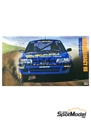 Hasegawa: Model car kit 1/24 scale - Subaru Legacy RS 555 Subaru World Rally Team - Colin McRae (GB) + Derek Ringer (GB) - New Zealand rally, Tour de Corse 1993 - for Shunko Models kit SHK-D337