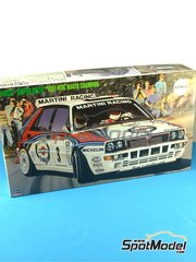 Hasegawa: Model car kit 1/24 scale - Lancia Super Delta HF Integrale Martini Racing #3, 8 - Didier Auriol (FR) + Bernard Occelli (FR), Philippe Bugalski (FR) + Denis Giraudet (DE) - Tour de Corse 1992 - photo-etched parts, plastic parts, rubber parts, water slide decals and assembly instructions