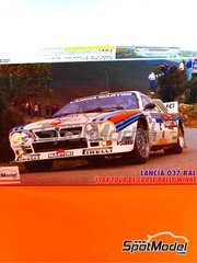 Hasegawa: Model car kit 1/24 scale - Lancia 037 Rally Martini Racing #5 - Attilio Bettega (IT) + Sergio Cresto (US) - Tour de Corse 1984 - plastic model kit image