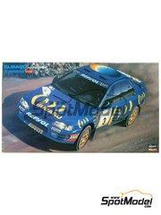 Hasegawa: Model car kit 1/24 scale - Subaru Impreza WRX 555 #3, 7 - Carlos Sainz (ES) + Luis Moya (ES), Colin McRae (GB) + Derek Rinder (GB) - Acropolis rally 1994 - plastic parts, water slide decals and assembly instructions