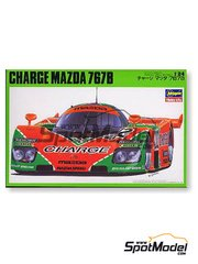 Hasegawa: Model car kit 1/24 scale - Mazda 767B Charge #202 - 24 Hours Le Mans 1989