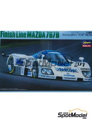 Hasegawa: Model car kit 1/24 scale - Mazda 767B Finish Line #201 - 24 Hours Le Mans 1989
