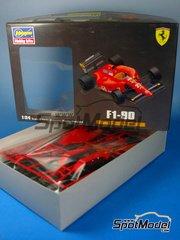 Hasegawa: Model car kit 1/24 scale - Ferrari 642 F1-90 Marlboro #27 - Alain Prost (FR), Jean Alesi (FR) - World Championship 1991