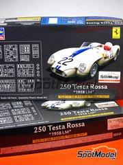 Hasegawa: Model car kit 1/24 scale - Ferrari 250 Testa Rossa TR